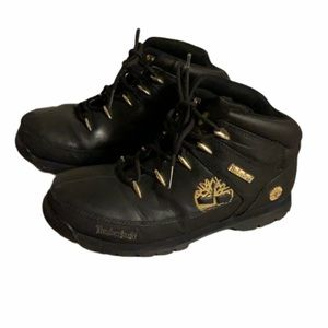 Timberland Black Leather Boots - Boy's Size 4.5